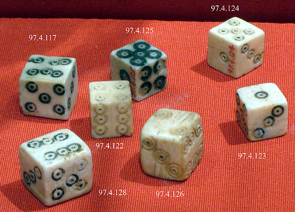 Ivory dice from Ancient Rome at el-Bahnasa