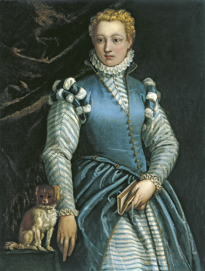 Veronese, Portrait of a Woman with a Dog - Isabella Andreini