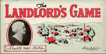 The Landlords Game cover with picture of Elizabeth Magie, unverified